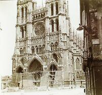 FRANCE Cathédrale Notre-Dame d'Amiens, Photo Stereo Plaque Verre VR2L5n12
