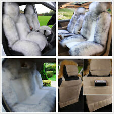 3pc Genuine Australian Sheepskin Fur Car Front+Rear Seat Covers Cushion Full Set