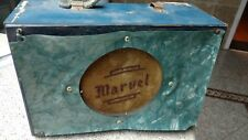 Vintage Marvel Small Guitar Amplifier In Original Blue Paint very rare 50's
