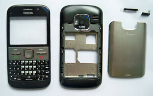 Black  Housing Cover Facia faceplate Fascia case for nokia E5 black