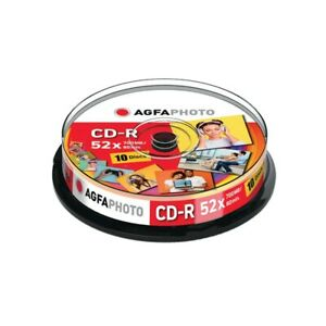 AGFAPHOTO CD-R 700MB 52X SPINDLE (10 PACK)