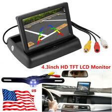 Car Backup Camera Rear View Parking System Night Vision+4.3 in TFT LCD Monitor