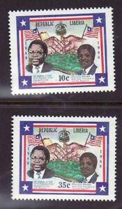 Liberia # 1069-70 MNH Complete 1988 President Doe