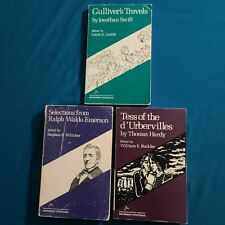 Riverside Editions Lot of 3 - Gullivers Travelers - Emerson - Tess d'Urbervilles