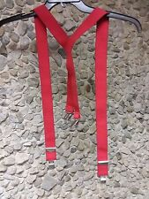 Adjustable  suspenders 1 red pr. 2 black pair $8.00 each 3 pair for $ 15.50!