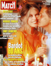 PARIS MATCH N° 2367 de 1994 BRIGITTE BARDOT DIEULEVEULT CRAWFORD