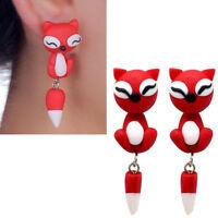 1 coppia orecchini Volpe Rossa orecchino pendente accessorio bigiotteria donna