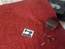 50cm Red Faux Glitter cotton lycra stretch knit fabric, faux shimmer fabric