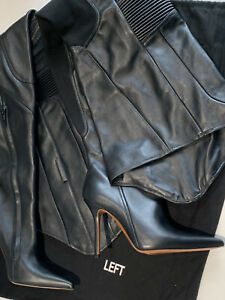 VETEMENTS Over The Knee Black leather boots EU38 (also Fits 39)