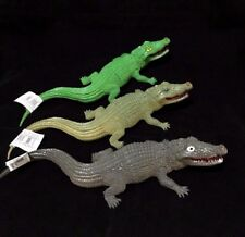 3  Tropical Reptile Animal Plastic Crocodile Toy Figurine Animals 30cm New