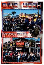 Daytona Beach Bike Week Florida Postcard Motorcycles Riders Eagle New