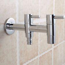 Dual Wall Mount Laundry Washing Machine Sink Stops Tap Set Water Taps Faucet AU