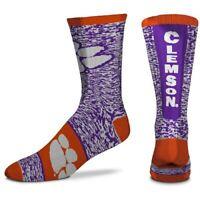 Men's For Bare Feet Clemson Tigers Ticket Heathered Crew Socks