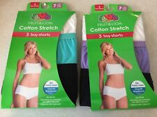 19811b8143a1 NIP FRUIT OF THE LOOM Size 7 (12-14) BoyShorts Underwear Panties -