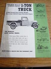 JEEP una tonnellata CAMION opuscolo, primi anni'50