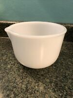Vintage Glasbake for Sunbeam Mixer White Milk Glass Mixing Bowl 20CJ POUR SPOUT