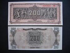 Greece 200 milione di DRACHMAI 9.9.1944 (p131a) UNC