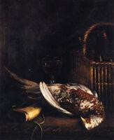 Dream-art Oil painting Claude Monet - Still Life with death bird Pheasant canvas