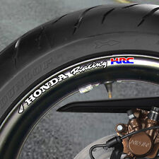 8 x HONDA RACING HRC  Wheel Rim Stickers Decals   cbr vtr vfr  - B