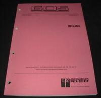 Werkstatthandbuch Peugeot 605 Motor Kühlung Steuerung XUD11ATE Stand 06/1991