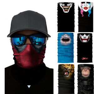 3D Animal Face Sun Scarf Cycling Headwear Neck Gaiter Balaclava Outdoor Sporting