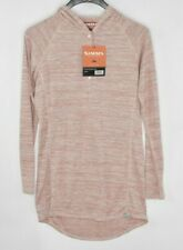 NEW Simms Women's Fishing Madeira Coverup Light Pink Hooded Long Sleeve Size S