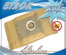 E120K 8 sacchetti filtro carta x Philips Mobilo Plus HR dal modello 8564 al 8569