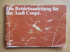 Betriebsanleitung Handbuch AUDI NSU Coupe 75PS und 115PS Ausgabe 1980