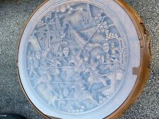Asian Carved Hardwood Tea/Sake/Coffee Table-Stools Samurai On Horses -Claw Feet