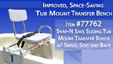 NEW IMPROVED EASY SWIVEL SEAT TUB MOUNT SLIDING TRANSFER BENCH-EAGLE MODEL 77762