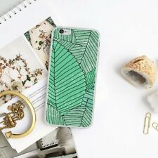 Green Plant Leaves Printed Soft Phone Case Cover For iPhone 7 8 6 Samsung S5/S6