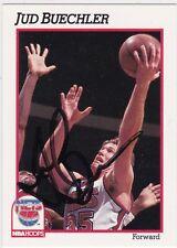 Jud Buechler Autographed 1991 NBA Hoops Basketball Card 133 New Jersey Nets