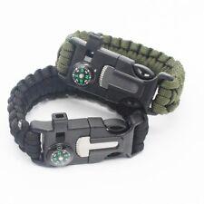 2PCS PACK Grid Gear 5-in-1 Survival Paracord Bracelet - Fire Starter, Compass