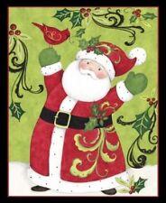 1 Springs  Swirl Santa Christmas Fabric Panel