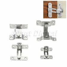 90 Degree Buckle Bolt Barn Door Lock Right Angle Bend Latch Hasp Toilet Gate Use