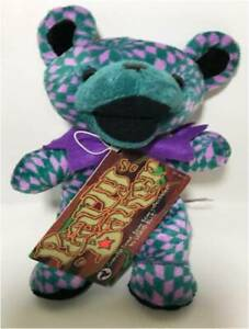 """PEARLY BAKER Grateful Dead Bean Bag 7"""" Plush Bear by Liquid Blue NEW WITH TAGS"""