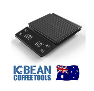 K Bean Coffee Tools - Espresso & Pourover Coffee Scales - with Timer