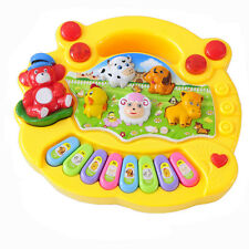 Yellow Kids Toddler Musical Educational Animal Farm Piano Music Toy Do Re Mi Key