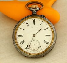 1900's Antique LONGINES 19.75 open face mechanical Swiss made pocket watch