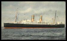 HABANA SS VEENDAM ON THE SEA VIEW SCENE 1952 POSTCARD