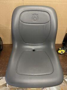 New Highback Husqvarna Zero Turn Lawn Mower Seat ZTR Gray Logo
