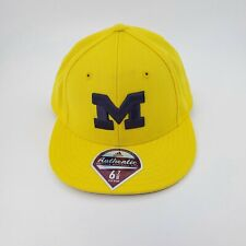 University of Michigan UofM Wolverines Fitted Cap Hat Adidas Size 6 7/8