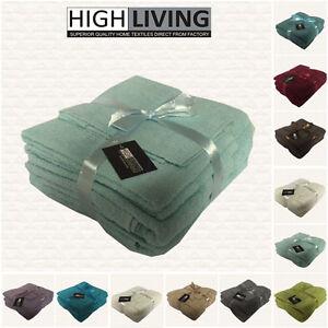 LUXURY 6 PIECE TOWEL BALE SET 100% PURE EGYPTIAN COTTON FACE, HAND, BATH TOWELS