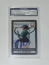 DJ PETERSON SIGNED AUTO'D 2013 PANINI ELITE EXTRA CARD #10 PSA/DNA RC MARINERS