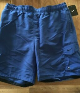 mens NIKE swim shorts Large RoyaL BLUE - new with tags