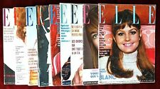 Lot of 9 Elle France Magazines ~ Year 1969 ~ Knapp Françoise Hardy Helmut Newton