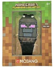NEW MINECRAFT ENDERMAN FLASHING LCD KIDS WATCH BOYS GIRLS