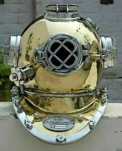 Vintage Scuba Morse Diving Helmet Maritime Boston Divers Navy Mark Divers Gift