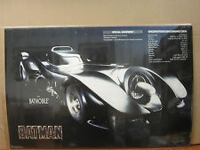 Vintage 1989 DC Comics Batman The batmobile poster 4851