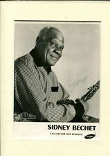 JAZZ Photo SIDNEY BECHET signature autographe